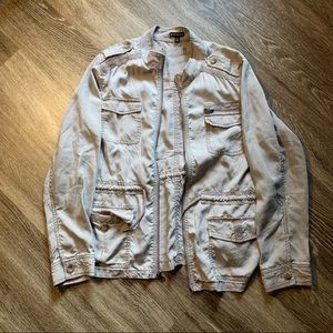 Light taupe lightweight jacket